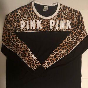 Vs pink leopard long sleeve shirt xl